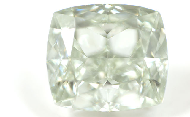 天然グリーンダイヤモンド ルース(裸石) 0.51ct, Fancy Light Yellowish Green, VS-1, Modified Rectangular Brilliant Cut, none, GIA