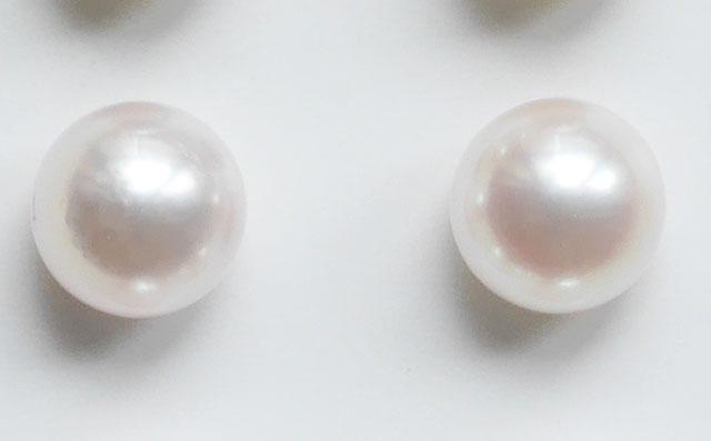 アコヤ本真珠 ルース ( ペア珠 ) 直径約7.1mm ( あこや パール 和珠 )