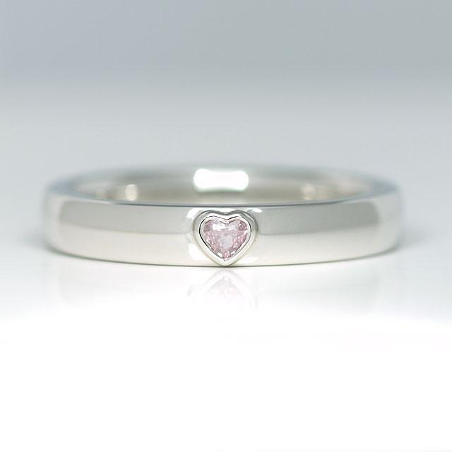 ピンクダイヤモンドリング指輪