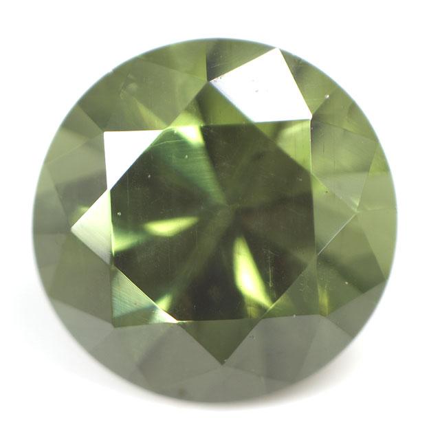 ダークグリーン・ジルコン ルース(裸石) 0.282ct, ( ラウンド/ダークグリーンジルコン ) 【8月6日/5月3日/1月5日の誕生日石】 宝石ソーティング付