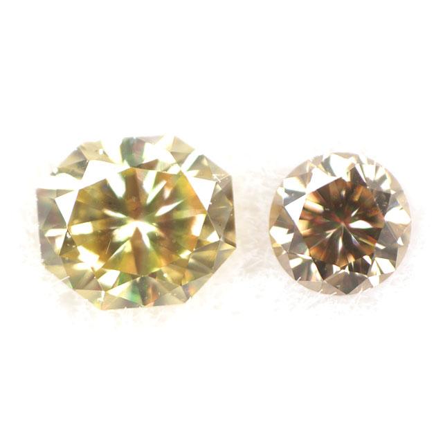ダイヤモンド ルース(裸石) セット 0.076ct ( 2ピース合計 )
