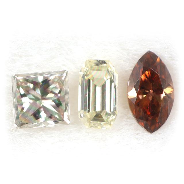 ダイヤモンド ルース(裸石) セット 0.100ct ( 3ピース合計 )