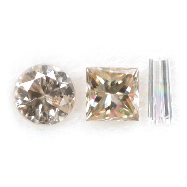 ダイヤモンド ルース(裸石) セット 0.093ct ( 3ピース合計 )