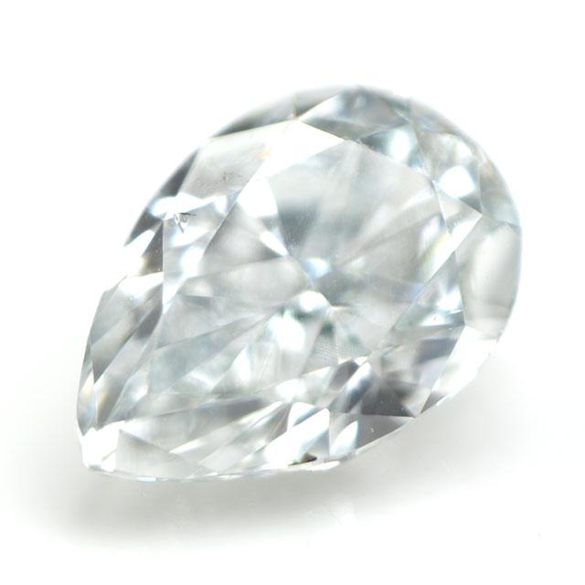 天然ブルーダイヤモンド ルース(裸石) 0.126ct, Light Blue ( ライト・ブルー ), SI-1, ペアシェイプ, AGTジェムラボラトリー 【 送料無料 】