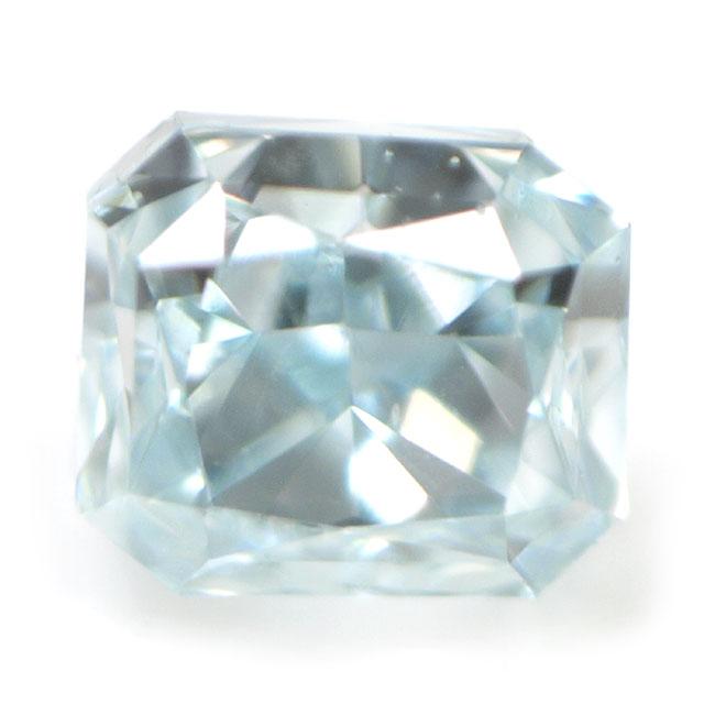 天然ブルーダイヤモンド ルース(裸石) 0.022ct, Fancy Greenish Blue (ファンシー・グリーニッシュ・ブルー), VS-1, ラディアントカット, AGTジェムラボラトリー 【 送料無料 】