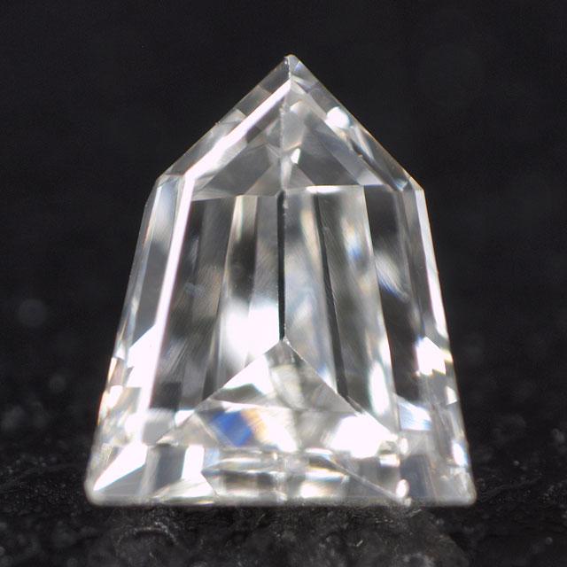 【 尖った将棋の駒のようです 】 天然ダイヤモンド ルース ( 裸石 ) 0.128ct, Gカラー, VS-1, 五角形, 中央宝石研究所ソーティング 【 送料無料 】