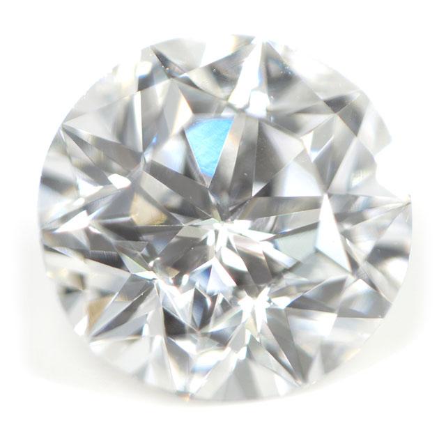 【 ダイヤの中に星(五芒星)が見えます 】 天然ダイヤモンド ルース ( 裸石 ) 0.163ct, Eカラー, VS-2 【 中央宝石研究所ソーティング 】 【 送料無料 】