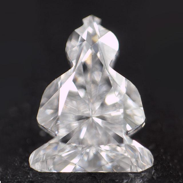 【 仏像 ( 仏陀 / ブッダ ) 】型 天然ダイヤモンド ルース ( 裸石 ) 0.340ct, Dカラー, VVS-2, 中央宝石研究所ソーティング 【 送料無料 】