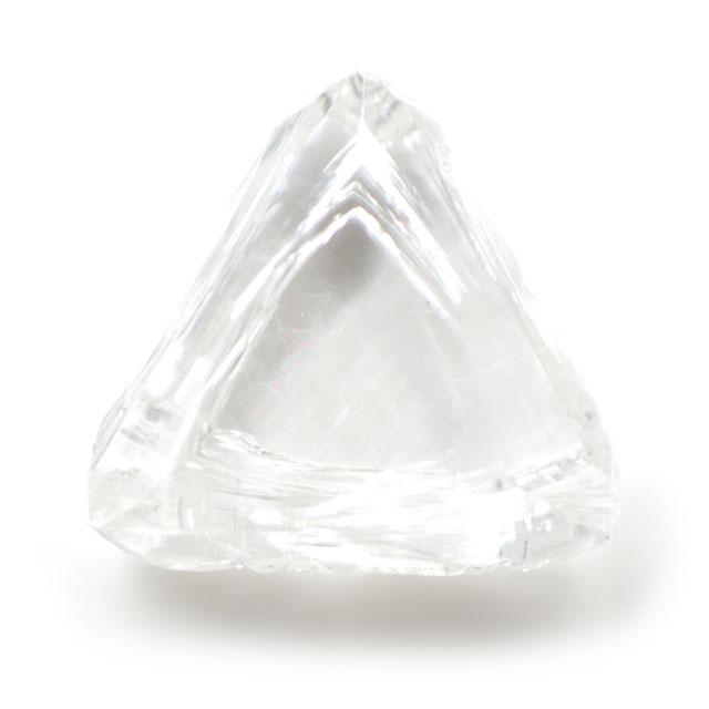 天然ダイヤモンド原石(ラフ) ルース ( 裸石 ) 0.172ct 【マクルと呼ばれる三角形のダイア原石。】 【 送料無料 】