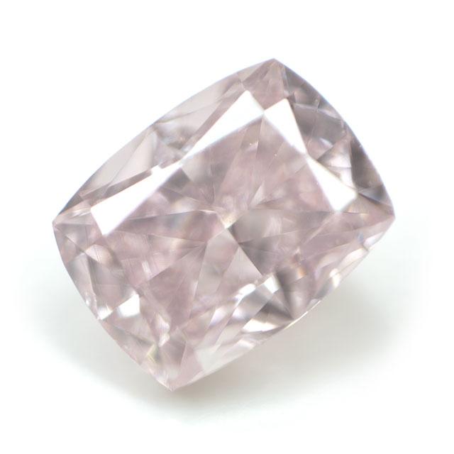 天然ピンクダイヤモンド ルース ( 裸石 ) 0.160ct, Fancy Pink (ファンシー・ピンク), SI-1, クッションカット 【中央宝石研究所ソーティング】 送料無料