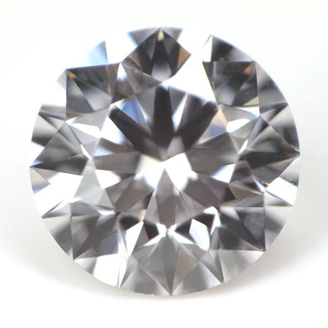 天然ピンクダイヤモンド ルース ( 裸石 ) 0.243ct, Faint Pink, VS-1, ラウンド ( ハート&キューピッド ) 中央宝石研究所ソーティング 【送料無料】