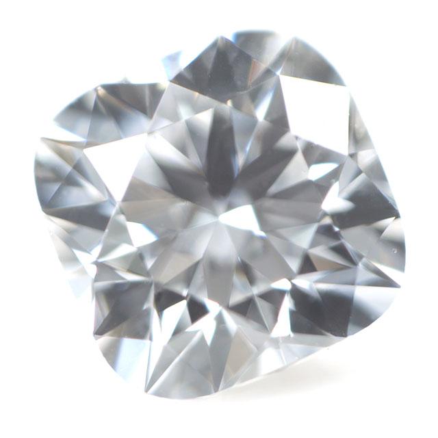 天然ダイヤモンド ルース(裸石) 0.212ct, Dカラー, VVS-1, クッション・カット, ハート&キューピッド 中央宝石研究所ソーティング 【送料無料】