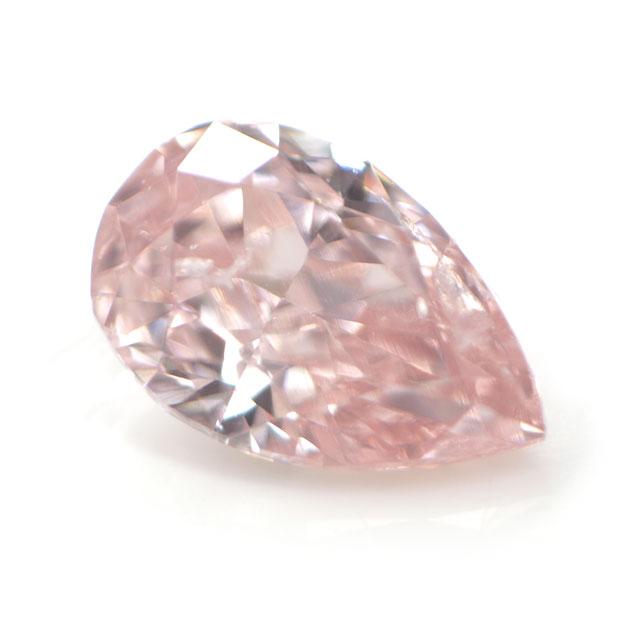 天然ピンクダイヤモンド ルース (裸石) 0.061ct, Fancy Pink, SI-2, ペアシェイプ 【 タイプ2a型 】 中央宝石研究所鑑定書付き 【送料無料】