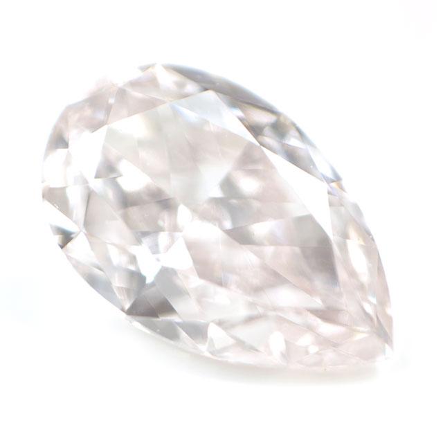天然ピンクダイヤモンド ルース (裸石) 0.179ct, Light Pink, VS-1, ペアシェイプ 【 タイプ2a型 】 中央宝石研究所鑑定書付き 【送料無料】