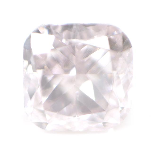 天然ピンクダイヤモンド ルース (裸石) 0.083ct, Light Purplish Pink, VS-2, クッションカット 【 タイプ2a型 】 中央宝石研究所鑑定書付き 【送料無料】
