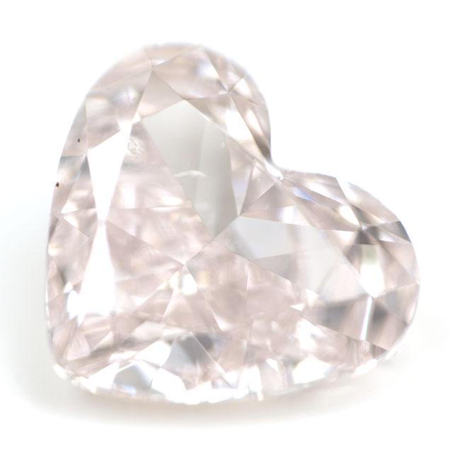 天然ピンクダイヤモンド ルース (裸石) 0.180ct, Light Pink, SI-1, ハートシェイプ 【 タイプ2a型 】 中央宝石研究所鑑定書付き 【送料無料】