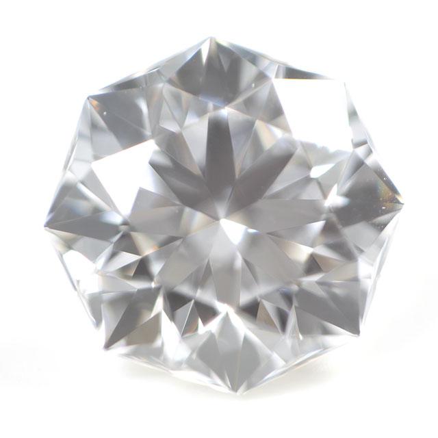 【通称名:クリスタルムーン】 天然ダイヤモンド ルース(裸石) 0.210ct, Dカラー, VS-1, 73面体, ハート&キューピッド, 正八角形, 中央宝石研究所 【送料無料】
