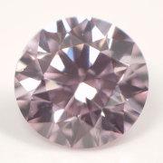 【タイプ2a+1a型】 天然ピンクダイヤモンドルース (裸石) 0.058ct, Fancy Purplish Pink, VS2, ラウンド 【中央宝石研究所ソーティング袋付】【送料無料】