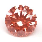 ラボ・グロウン・ピンクダイヤモンド(合成ピンクダイヤモンド) ルース(裸石) 0.166ct, Fancy Intense Orangy Pink, VS2, Very Good 【 IGI 】 【送料無料】