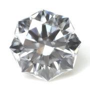 【ご予約販売済み品。他のお客様はご注文頂けません。】【 通称名:クリスタルムーン 】 天然ダイヤモンド ルース(裸石) 0.233ct, Dカラー, VS-1, 73面体, ハート&キューピッド, 正八角形, 中央宝石研究所ソーティング 【送料無料】