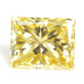 天然イエローダイヤモンド ルース(裸石) 0.221ct, Fancy Intense Yellow (ファンシーインテンスイエロー), VS1, プリンセスカット