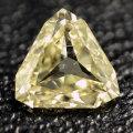【 三角形 】 天然イエローダイヤモンド ルース(裸石) 0.252ct,SI-2,ファンシー・ライト・イエロー【 中央宝石研究所ソーティング袋付 】【 送料無料 】