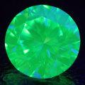 【 蛍光性 : ストロング・グリーン 】 天然グリーンダイヤモンド ルース(裸石) 0.525ct, Very Light Yellowish Green, VVS-2【 中央宝石研究所ソーティング袋付 】 【 送料無料 】