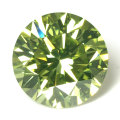 グリーンダイヤモンド (トリートメント) リング ( 1.011ct, プラチナ900 )
