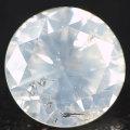 天然ホワイトダイヤモンド ルース(裸石) 0.613ct, Fancy White (ファンシーホワイト), I-1, ラウンド・ブリリアント・カット 中央宝石研究所ソーティング 【 送料無料 】