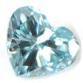 ブルーダイヤモンド (トリートメント) ルース(裸石) 0.024ct アイスブルー系 ハートシェイプ