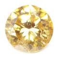 天然イエローダイヤモンド ルース 0.237ct, Fancy Vivid Orange Yellow, I-1, ラウンド 【中央宝石研究所】 【送料無料】