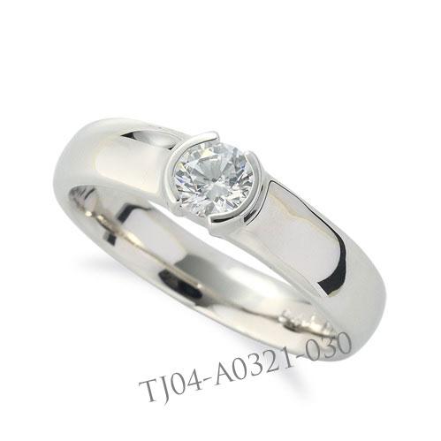 婚約指輪 (エンゲージリング) セミオーダー 【ラウンド】 【 0.1ct 0.2ct 0.3ct 0.5ct 0.7ct 1.0ct 対応 】 TJ04-A0321