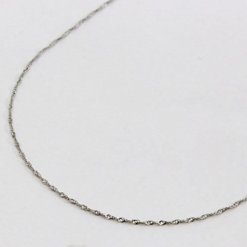 プラチナ ネックレス スクリュー チェーン 45cm 0.8g Pt850 刻印 1633-NP11