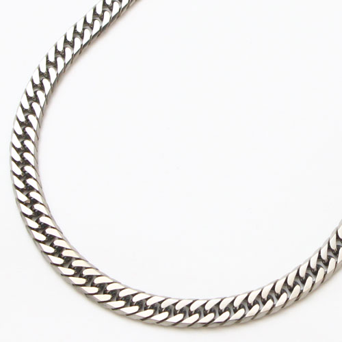チタン ネックレス 6面カット キヘイ 50cm 中折式 1755-NC11