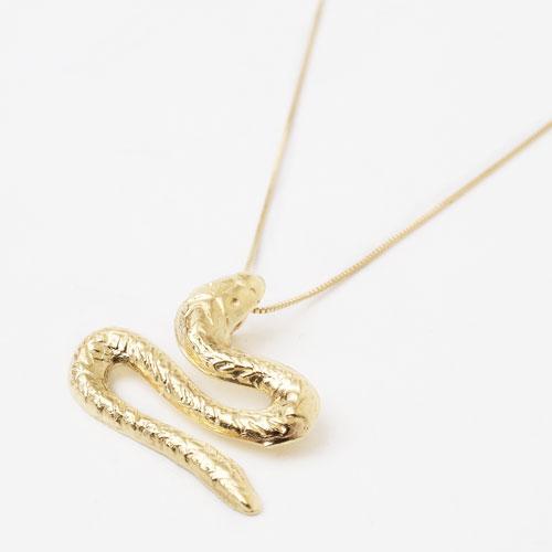 スペイン製 18金 スネイク 蛇 ペンダント ネックレス 1820-PG12