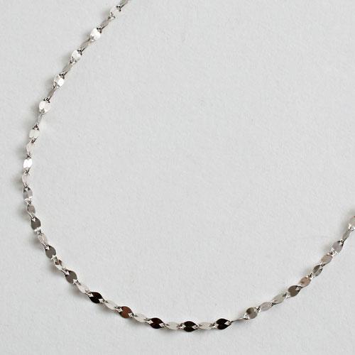 純プラチナ ネックレス ペダル チェーン 50cm 2.3g 純Pt 刻印 2009-NP12