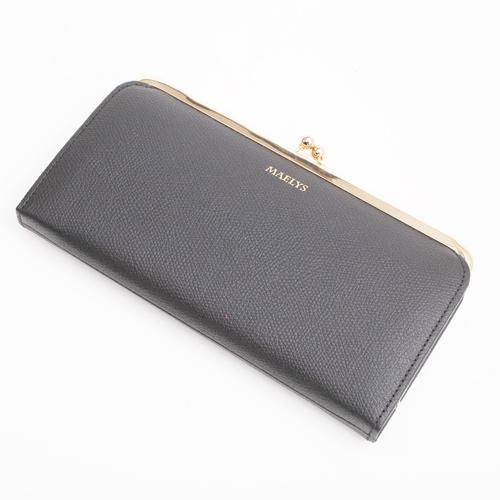 日本製 レザー 牛革 長財布 ナイロン ブラック 4035-MZ18