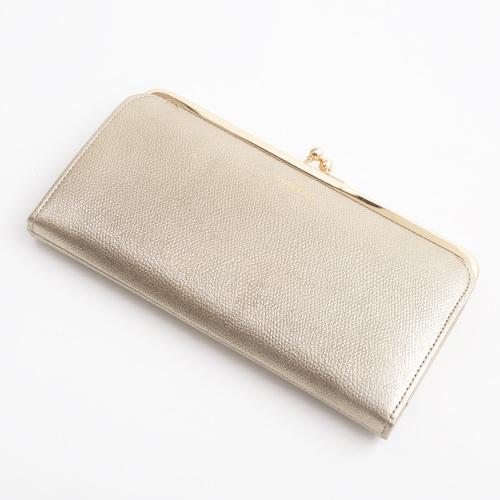 日本製 レザー 牛革 長財布 ナイロン ゴールド 4036-MZ18