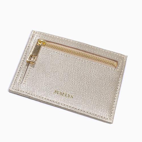 レザー カード入れ コインケース 小銭入れ  ゴールド 4588-MZ21