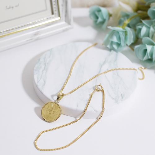 【祝7周年 福袋】 日本製 純金 コイン キヘイ ネックレス ブレスレット 限定5点  6019-XS21