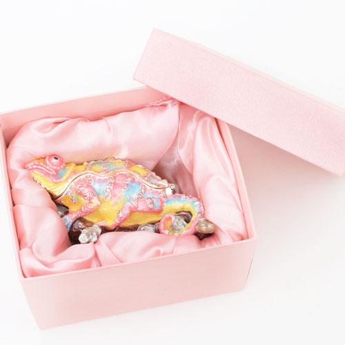 ミニジュエリーケース 宝石箱 カメレオン 小物入れ 0015-JC13