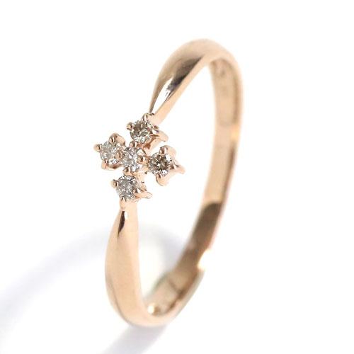 受注生産商品 18金 K18 ピンクゴールド ダイヤモンド 光のイルミネーションリング  0019-RG06