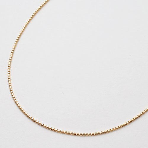 18金 イエローゴールド ネックレス ベネチアンチェーン スライド 45cm 0062-NG07