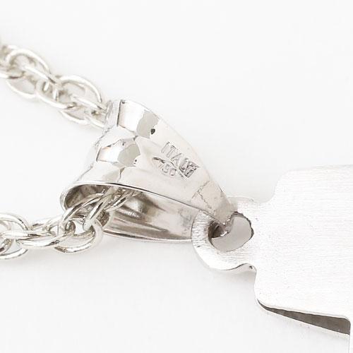 18金 リバーシブル クロス ペンダント ホワイトゴールド イタリア製 0123-PG07