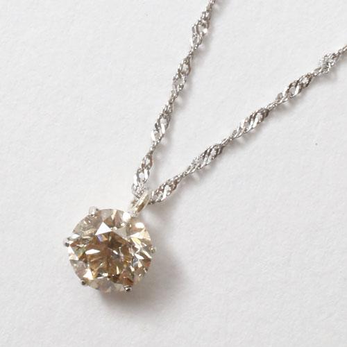 【送料無料】【日本製】プラチナ/Pt999 ダイヤモンド/ダイヤ/0.3ct ペンダント/ネックレス I1クラス Pt850 スクリューチェーン 鑑定書付 0146-PG07
