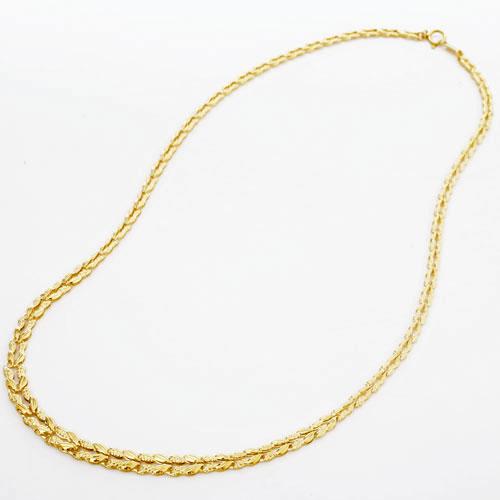 純金 ネックレス ラン グラデーション リバーシブル 0172-NG08