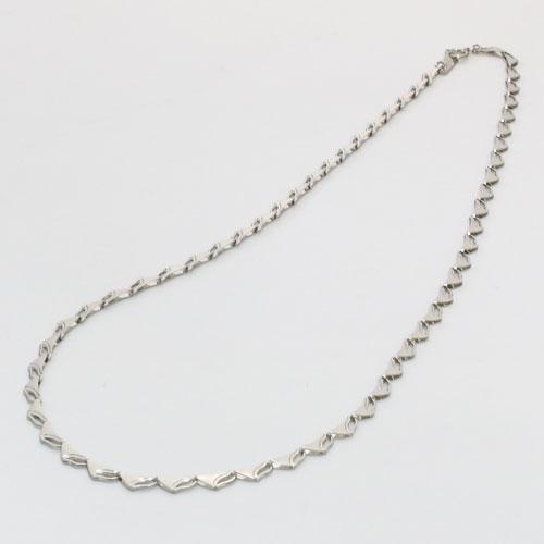 純プラチナ ネックレス(ラギング・ウェーブ)42cm 7.5g 純Pt 刻印 0355-NP08