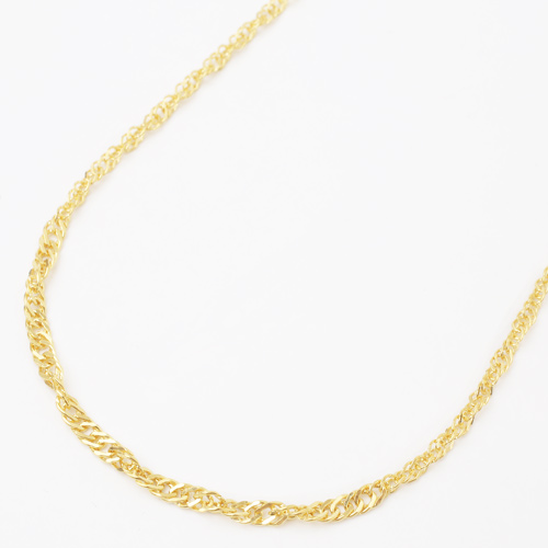 日本製 純金 ネックレス スクリュー チェーン 45cm 5.2g K24 刻印 0358-NP08