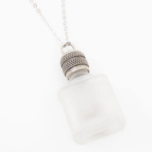 フランス製 ガラス 香水 フレグランスボトル クリア ペンダント 0367-PS08