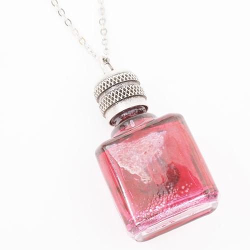 フランス製 ガラス 香水 フレグランスボトル エンジェル・レッド ペンダント 0368-PS08